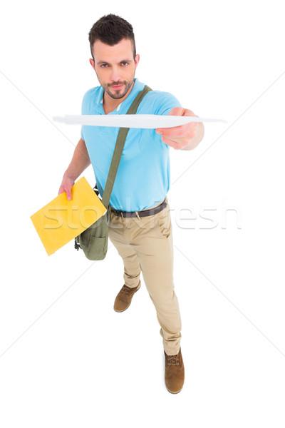 Listonosz list biały człowiek portret pracy Zdjęcia stock © wavebreak_media