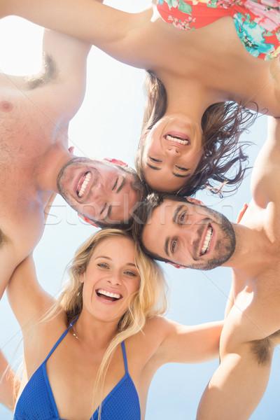 グループ 友達 女性 男 幸せ ストックフォト © wavebreak_media