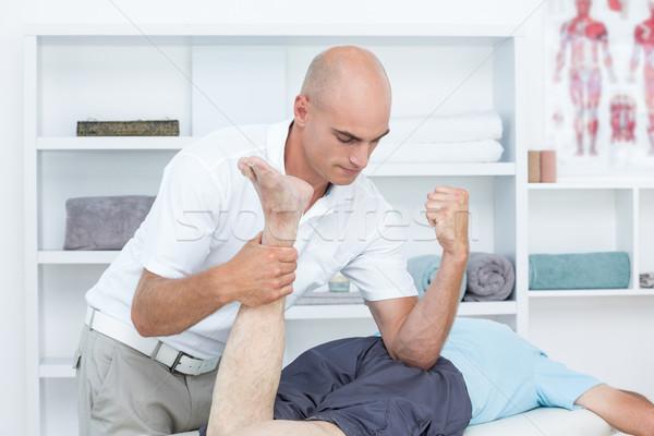 Сток-фото: ногу · массаж · пациент · медицинской · служба · человека