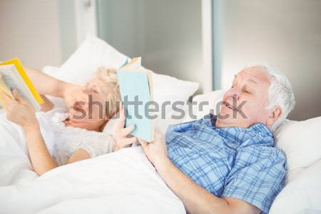 Father and son using napping on the couch Stock photo © wavebreak_media