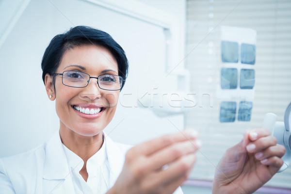счастливым женщины стоматолога Xray портрет Сток-фото © wavebreak_media