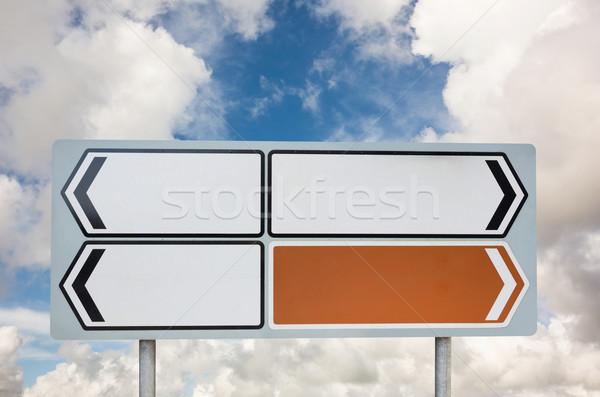 Poste de sinalização cópia espaço nublado blue sky Foto stock © wavebreak_media