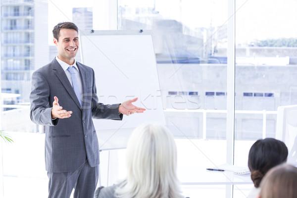 ビジネスチーム 見える 白 画面 会議室 女性 ストックフォト © wavebreak_media