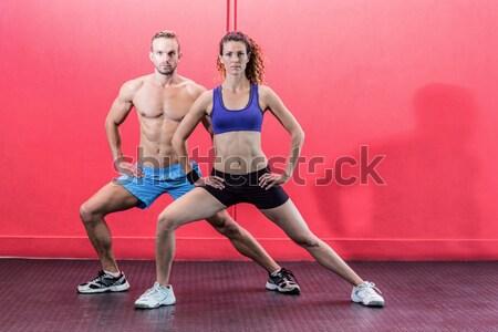 Muskularny para crossfit siłowni kobieta Zdjęcia stock © wavebreak_media