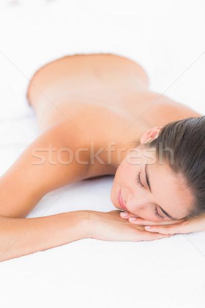 Stock photo: Beautiful blonde enjoying a massage
