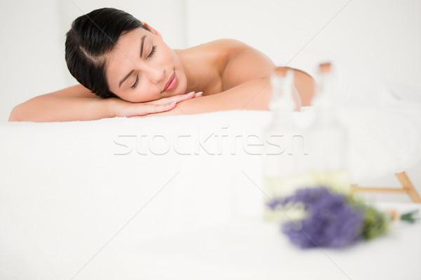 Beautiful woman lying on the massage table Stock photo © wavebreak_media
