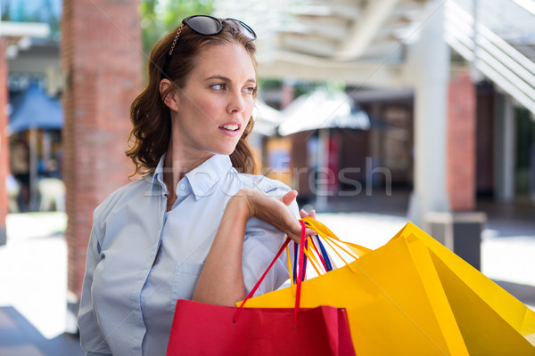 Pretty woman shopping at the mall Stock photo © wavebreak_media