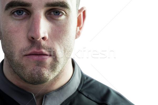 Szívós rögbi játékos néz kamera fehér Stock fotó © wavebreak_media