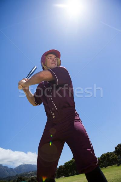 Jugador de béisbol bate cielo vista Foto stock © wavebreak_media