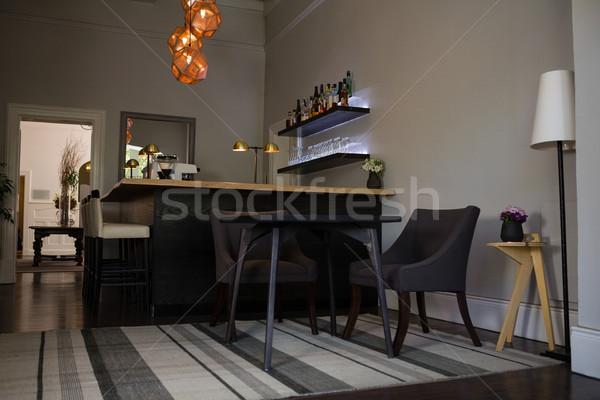 стульев таблице ресторан пусто древесины искусства Сток-фото © wavebreak_media
