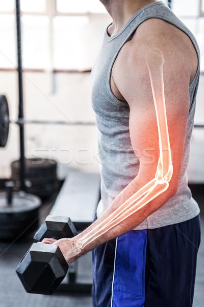 腕 強い 男 重み ジム ストックフォト © wavebreak_media