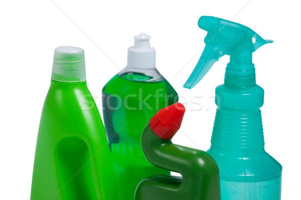 Detergente botellas blanco fitness botella Foto stock © wavebreak_media