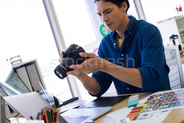 Erkek yürütme fotoğraf büro ofis çocuk Stok fotoğraf © wavebreak_media