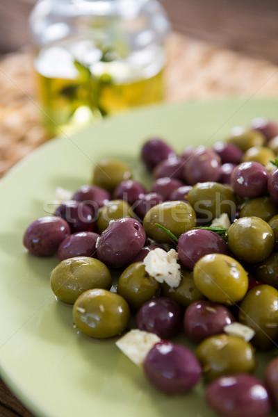 Marinated olives in plate Stock photo © wavebreak_media