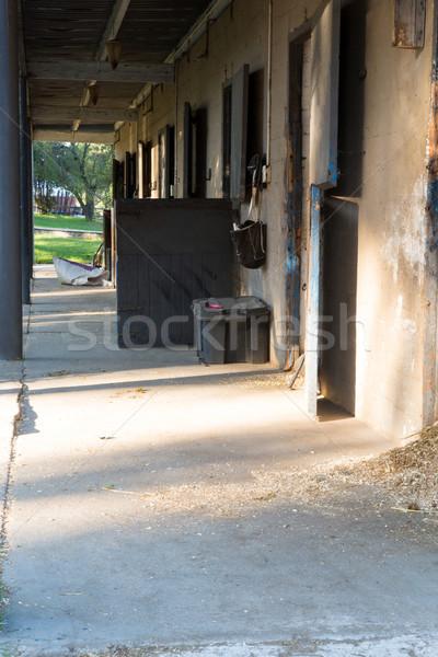 Schuur boerderij zomer leren Stockfoto © wavebreak_media