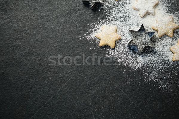 Görmek star biçim kurabiye ahşap Stok fotoğraf © wavebreak_media