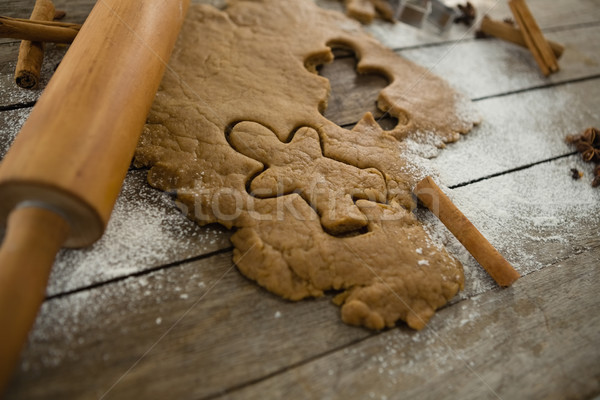 Close up of dough with rolling pin Stock photo © wavebreak_media