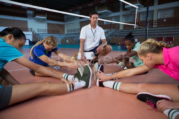 Röplabda játékosok előad nyújtás testmozgás bíróság Stock fotó © wavebreak_media