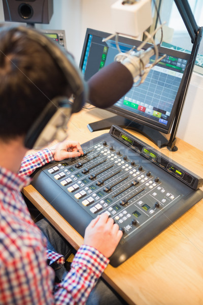Radio accueil sonores mixeur table image Photo stock © wavebreak_media