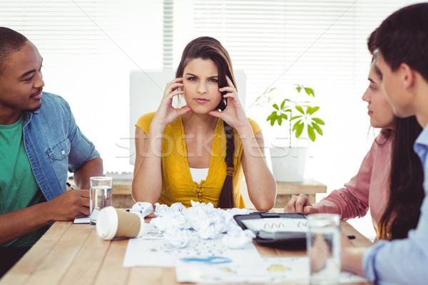 Jonge manager gevoel druk toevallig kantoor Stockfoto © wavebreak_media