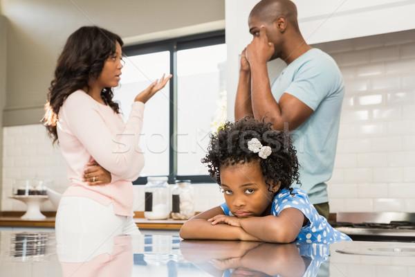 Parents arguing in front of daughter Stock photo © wavebreak_media