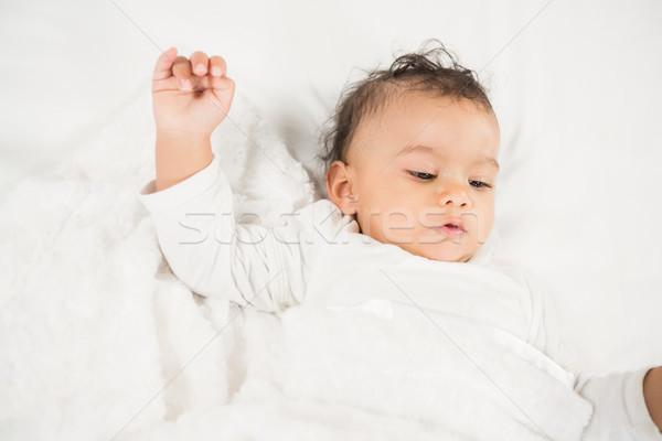 Cute baby on bed Stock photo © wavebreak_media