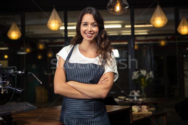 かなり バリスタ 腕 コーヒーショップ 女性 食品 ストックフォト © wavebreak_media