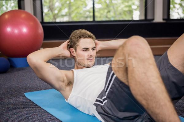 Férfi abdominális egészség tornaterem testmozgás képzés Stock fotó © wavebreak_media