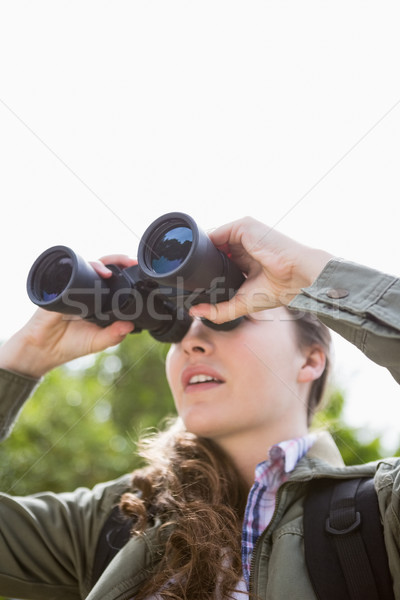 Woman using binoculars Stock photo © wavebreak_media