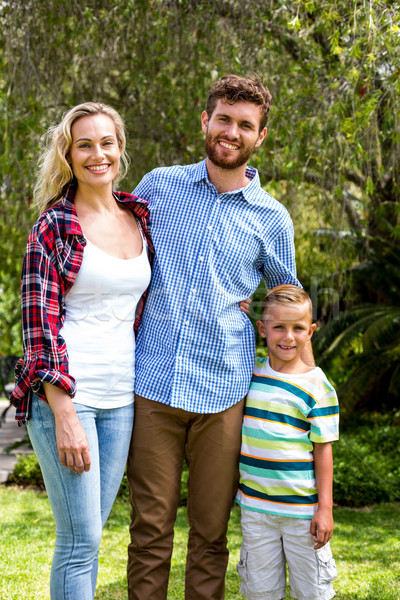 Portrait of happy family standing at yard  Stock photo © wavebreak_media