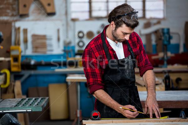 Marangoz çalışma adam işçi stüdyo araç Stok fotoğraf © wavebreak_media