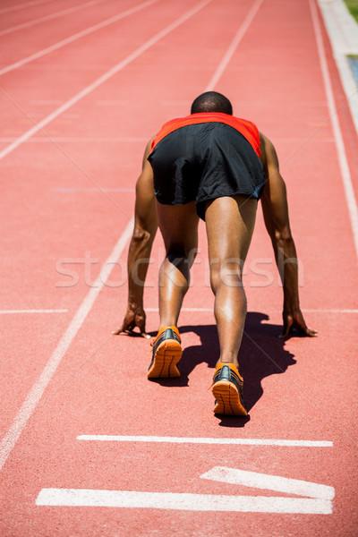 Athlete ready to run Stock photo © wavebreak_media