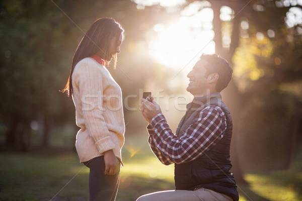 Man giving ring to woman Stock photo © wavebreak_media