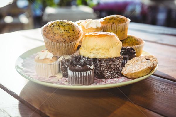 Desserts on plate Stock photo © wavebreak_media
