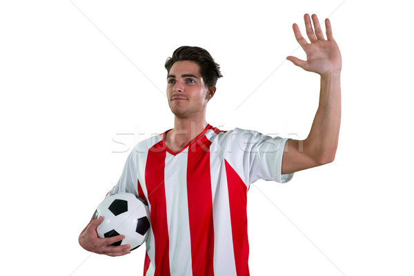 Football player waving his hand Stock photo © wavebreak_media