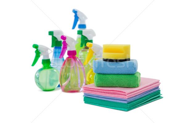 Spray üvegek törlés divat takarítás fehér Stock fotó © wavebreak_media