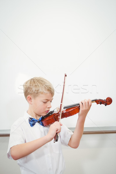Concentrating Student playing a violin Stock photo © wavebreak_media