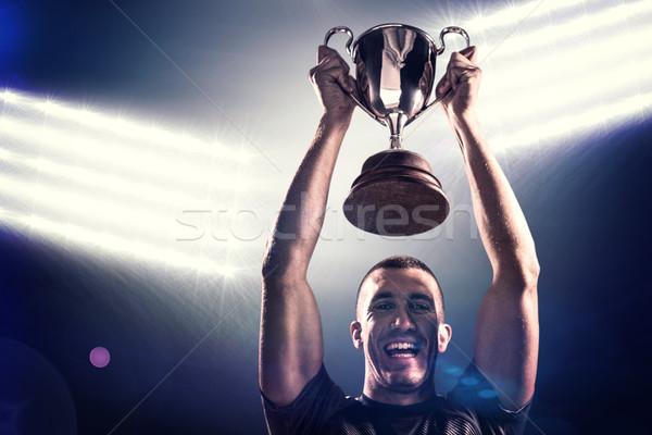 Foto stock: Imagen · retrato · exitoso · rugby · jugador