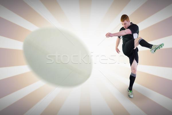 画像 クローズアップ ラグビーボール リニア デザイン ストックフォト © wavebreak_media
