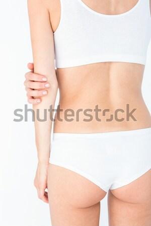 立って 女性 白 ブラジャー 乳癌 認知度 ストックフォト © wavebreak_media