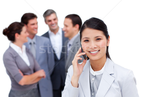 Portret internationale bedrijfsleven team praten samen man Stockfoto © wavebreak_media