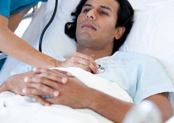 Hispanic пациент врач медицинской кровать больницу Сток-фото © wavebreak_media