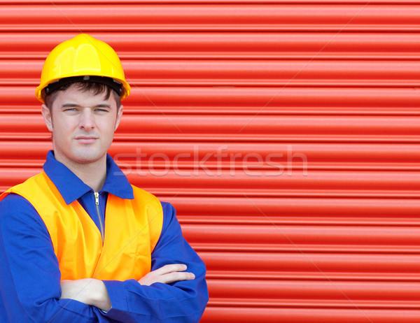 Young worker wearing a hardhat Stock photo © wavebreak_media