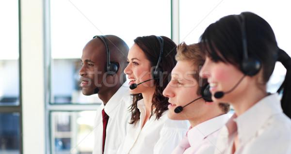 Portrait of a professional sale representative team at work in a office Stock photo © wavebreak_media