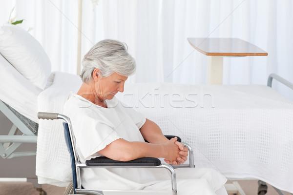 Idős nő tolószék űr idős nevetés Stock fotó © wavebreak_media