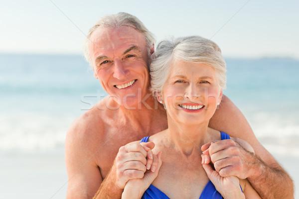 Adam eş plaj kadın kız Stok fotoğraf © wavebreak_media