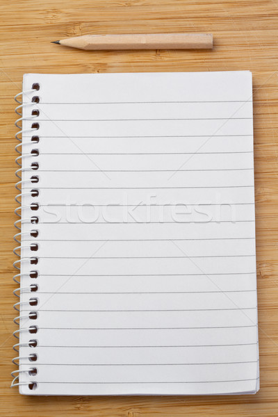 Portable stylo bureau texture bois école Photo stock © wavebreak_media
