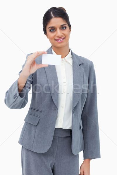 Souriant carte de visite blanche affaires Photo stock © wavebreak_media
