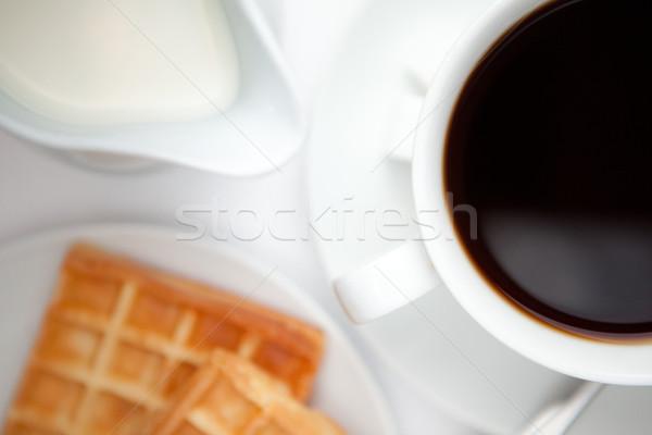 カップ コーヒー 白 背景 ドリンク ミルク ストックフォト © wavebreak_media