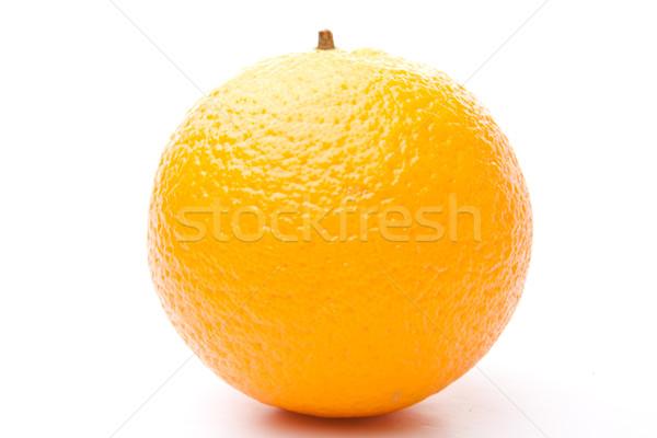 Stockfoto: Een · oranje · witte · achtergrond · eten · zoete